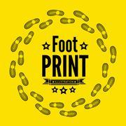 Shoe print Stock Illustration