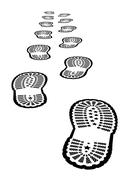 shoe print - stock illustration
