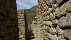Residential section of Machu Picchu Stock Footage