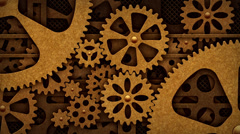 Steampunk mechanism - stock footage