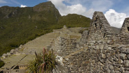 Stock Video Footage of Terraced structures view in Machu Picchu, Peru