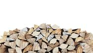 Stock Illustration of fire wood concept rendered on white