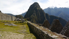 Amazing view of Machu Picchu, Peru Stock Footage