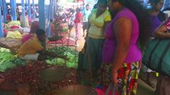 Locals selling their produce at Hikkaduwa Sunday market. Stock Footage