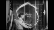 Military officer pointing and explaining the map Stock Footage