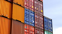 Maritime container Stock Footage