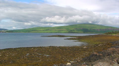 Lochs in the Highlands during the low tide - stock footage
