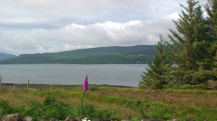 Loch in Great Britain separating Mull Island and Great Britain Island Stock Footage