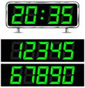 Stock Illustration of vector digital clock