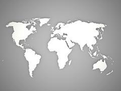 World map on black and white Stock Illustration