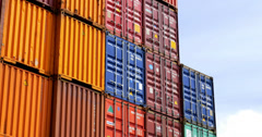 4k, maritime container - stock footage