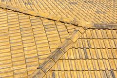 old tile roof. - stock photo