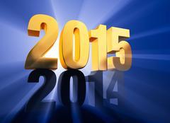 Stock Illustration of 2015 arrives