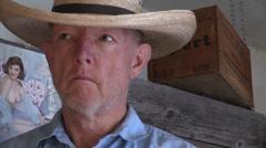 Sheriff shifty eyes Stock Footage