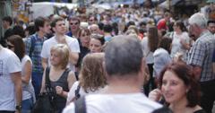 Crowds hit London market 4K Stock Footage