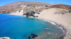 Agios Pavlos St. Paul Sandhills beach Stock Footage