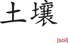 Chinese Sign for soil - stock illustration