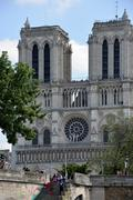 The Notre Dame in Paris, France. Stock Photos