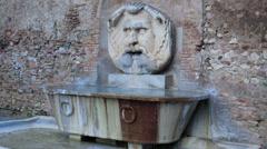 Copy of Bocca della Verità. Fountain near Giardino degli Aranci, Rome, Italy Stock Footage