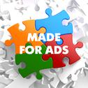 Stock Illustration of Made for ADS on Multicolor Puzzle.