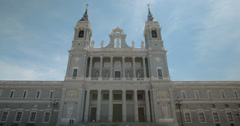 4K Close Up of the beautiful Almudena Cathedral in Madrid, Spain Stock Footage