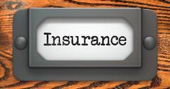 Insurance - Concept on Label Holder. Stock Illustration