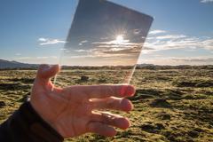 Iceland landscape across filter Stock Photos
