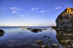 beautiful waterscape in rezovo  bulgaria - stock photo