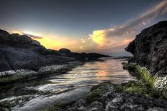 Beautiful waterscape in rezovo  bulgaria Stock Photos