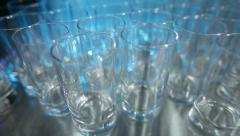 glasses with a highlight - stock footage