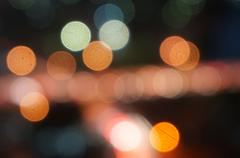 night lights bokeh - stock photo
