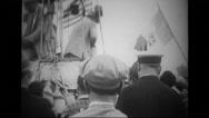 Pilots onboard on balloon in annual Gordon Bennett long distance race Stock Footage