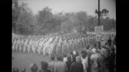 Military men at parade Stock Footage