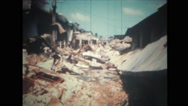 Destroyed buildings with piles of rubble Stock Footage