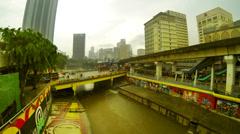 Rainy day time lapse, Pasar Seni, Kuala Lumpur. Stock Footage