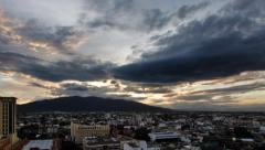 Sunset over Chiang Mai province Thailand. Time lapse. Stock Footage