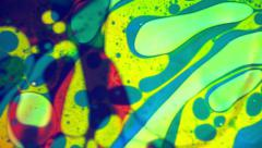 Liquid Light 1960's Psychedelic Colorful Motion Backgrounds Stock Footage