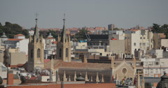 4K Video of the roof top of the St. Jerome Royal Church, Madrid, Spain Stock Footage