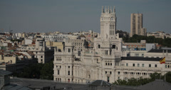 4K Video of the Cibeles Palace in Madrid, Spain Stock Footage