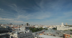 4K Aerial view of the Madrid skyline, Spain Stock Footage