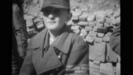 Prisoner standing after the war Stock Footage