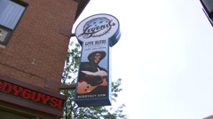 Exterior of Buddy Guy's Legends bar Stock Footage