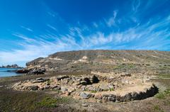 Archeology site in canary islands Stock Photos