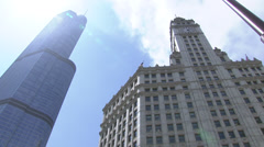 Chicago River as seen from N. Michigan Avenue Stock Footage