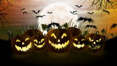 Halloween Pumpkin Background Animation Stock Footage
