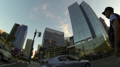 Bonifacio global city metro Manila timelapse Stock Footage
