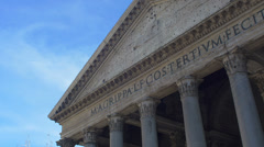the Pantheon in Rome: monument, tourism, city center, - stock footage