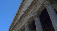 Detail of The Pantheon in Rome, Italy. 4k footage Stock Footage