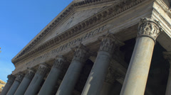 Pantheon, The northwest side view. Roma Italy Stock Footage