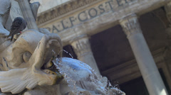 The Pantheon has been used as a Roman Catholic church Stock Footage